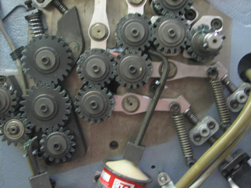 Gears on a rebuild in process